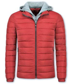 Enos Kurze Winterjacke Männer - Rote Jacke - Rot