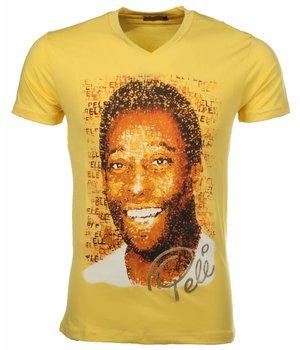 Mascherano T Shirt Herren - Pele - Gelb