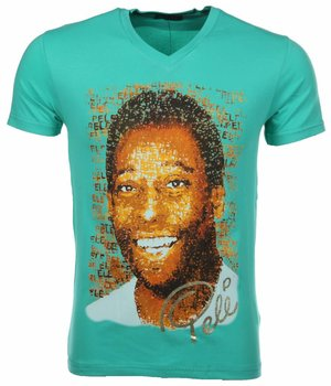 Mascherano T Shirt Herren - Pele - Grün