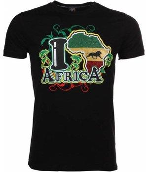 Mascherano T Shirt Herren - I Love Africa - Schwarz