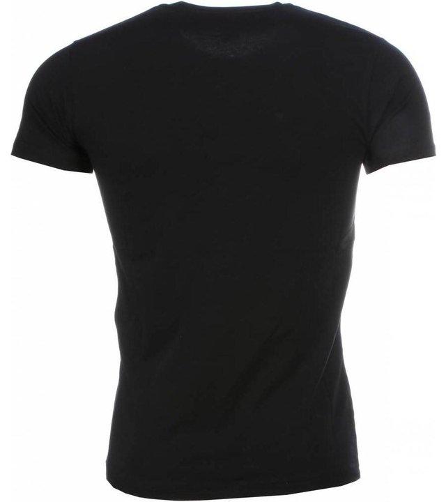Mascherano T Shirt Herren - Made To Get Paid Scarface - Schwarz