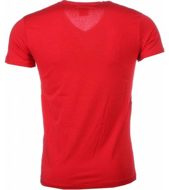 Mascherano T Shirt Herren - I Love Suriname - Rot