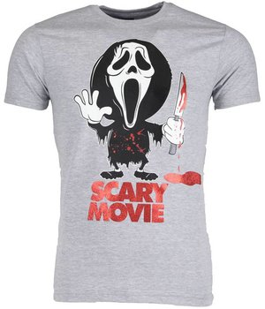 Mascherano T Shirt Herren - Scary Movie - Grau