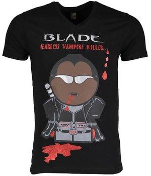 Mascherano T Shirt Herren - Blade Fearless Vampire Killer - Schwarz