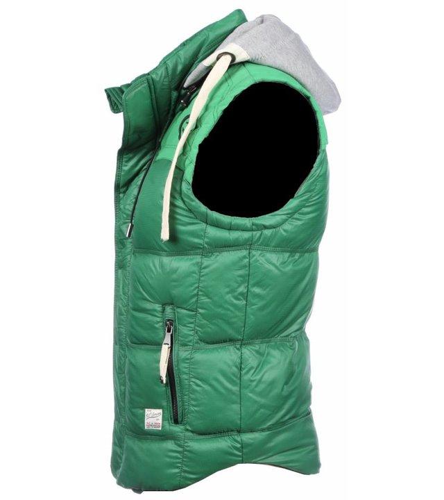 Yole Bodywärmer Herren - Kapuze - Grün