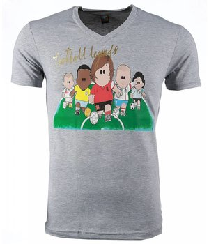 Mascherano T Shirt Herren - Football Legends Print - Grau
