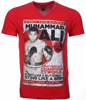 Mascherano T Shirt Herren - Muhammad Ali Print - Rot