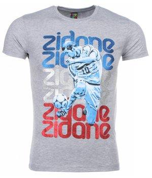 Mascherano T Shirt Herren - Zidane Print - Grau