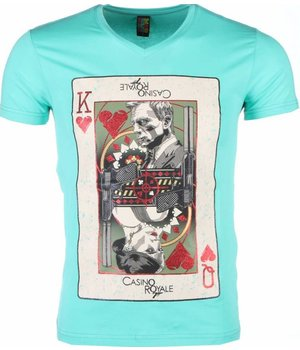Mascherano T Shirt Herren - James Bond Casino Royale Print - Grun