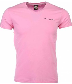 David Mello T Shirt Herren - Blanco - Rosa