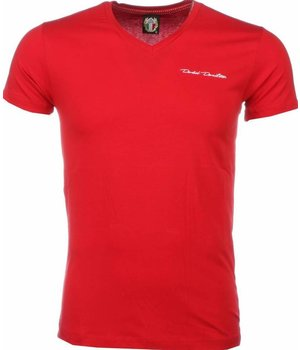 David Mello T Shirt Herren - Blanco - Rot