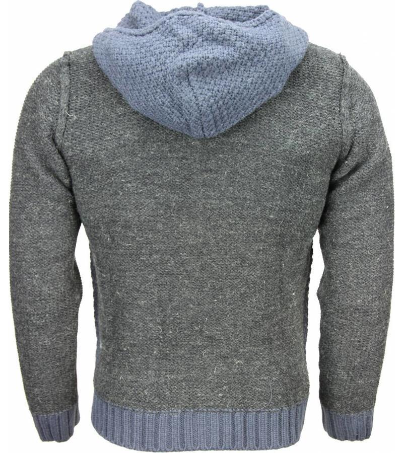 the latest 4fe41 b12ff Enos Sweatjacke - Herren-pullover - Wolle - Blau - Styleitaly.de