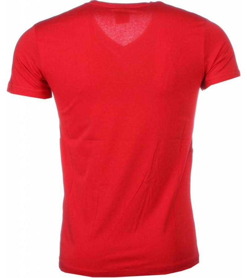 Mascherano T Shirt Herren - Muhammad Ali Siegel Print - Rot