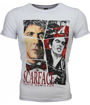 Mascherano T Shirt Herren - Scarface Frame Print - Weiß