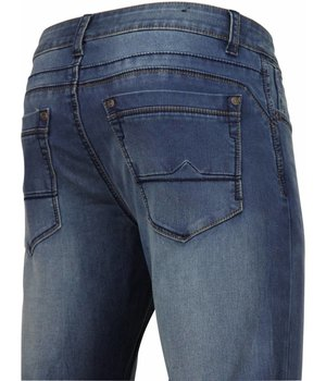Orginal Ado Herren Jeans - Regular Fit - Basic Washed - Marine