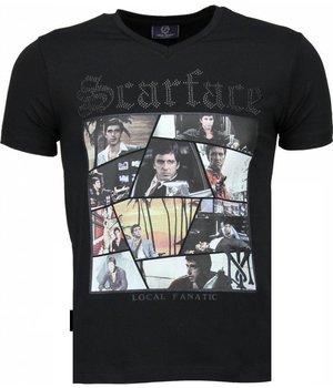 Local Fanatic Scarface TM - T Shirt Herren - Schwarz