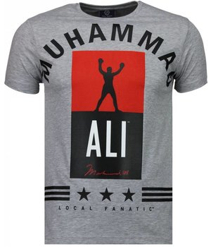 Local Fanatic Muhammad Ali Stars - T Shirt Herren - Grau