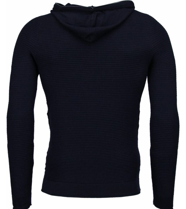 Enos Long Tee Rippe - Sweatshirt - Schwarz