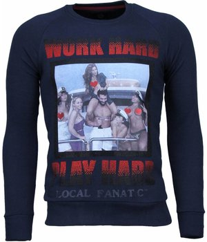 Local Fanatic Bilzerian - Strass Sweatshirt - Marine