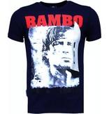 Local Fanatic Rambo - Strass T Shirt Herren - Marine Blau