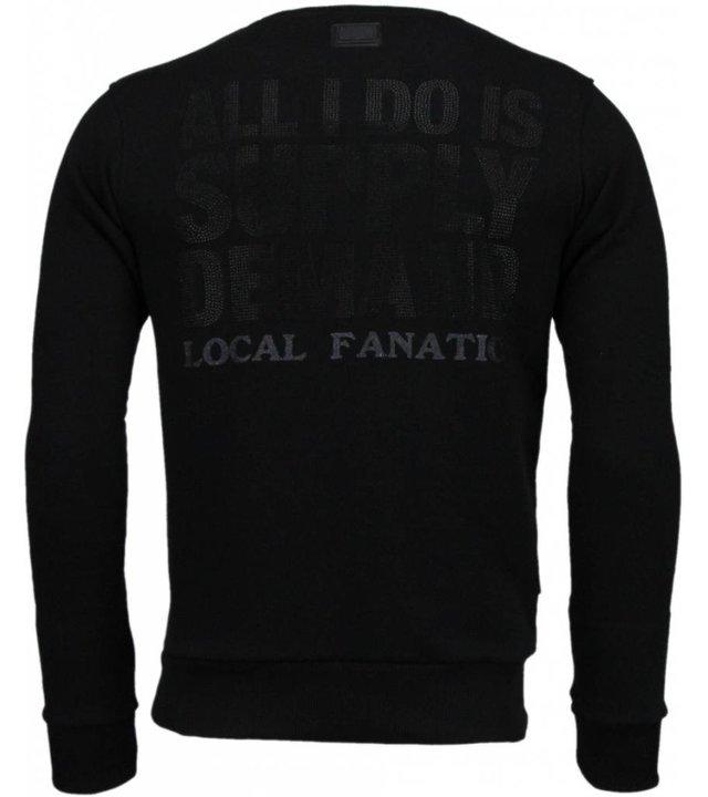 Local Fanatic Al Capone - Strass Sweatshirt - Schwarz