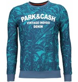 Black Number Park&Cash - Sweatshirt - Grün