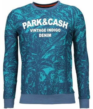 Black Number Park&Cash - Sweatshirt - Grün