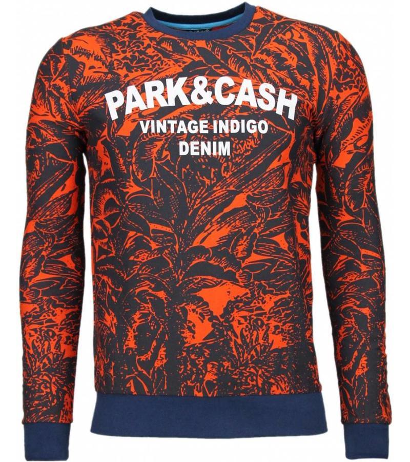 Black Number Park&Cash - Sweatshirt - Orange