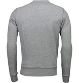 Bread & Buttons Crew Text Stickerei - Sweatshirt - Grau