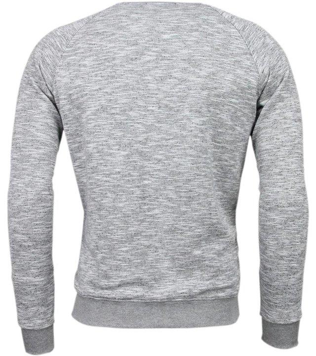 Enos New York City Print - Sweatshirt  - Grau