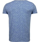 Black Number blättern Motiv Sommer - T Shirt Herren - Blau
