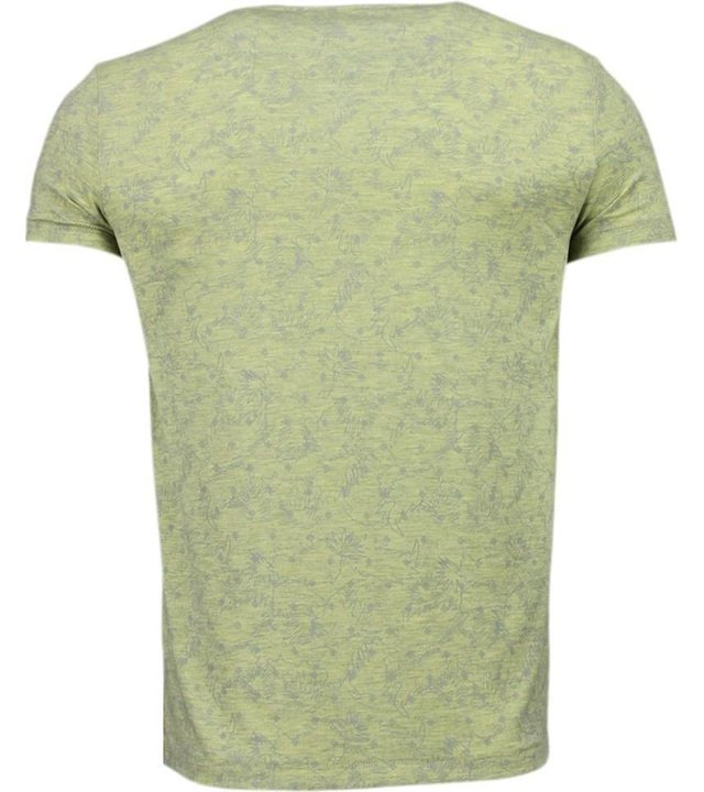 Black Number blättern Motiv Sommer - T Shirt Herren - Gelb