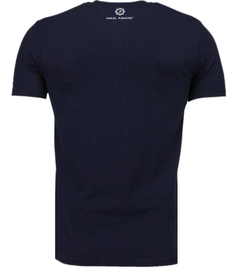 Local Fanatic Basic - T Shirt Herren - Dunkel Blau