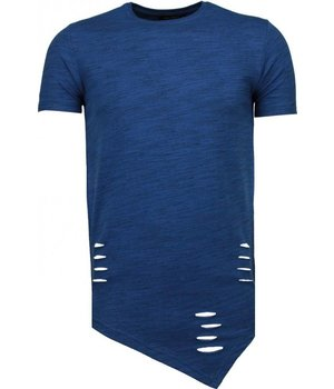 Tony Brend Long Fit - T Shirt Herren - Marine Blau