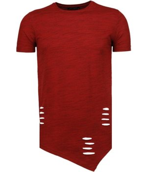 Tony Brend Long Fit - T Shirt Herren - Rot