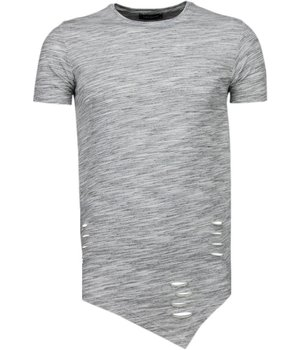 Tony Brend Long Fit - T Shirt Herren - Grau