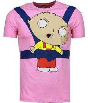 Mascherano Baby Stewie - T Shirt Herren - Rosa