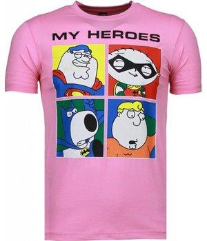 Mascherano Super Family - T Shirt Herren - Rosa