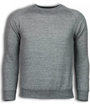 Enos Basic Fit - Sweatshirt - Grau