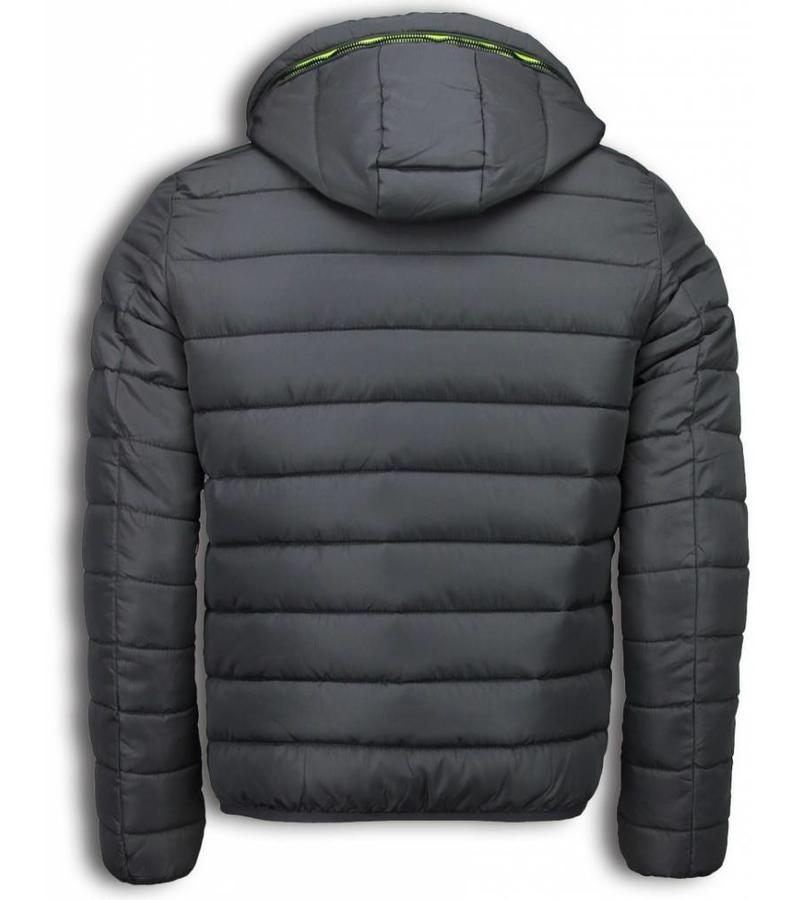info for a81e5 76fb1 Winterjacken Herren Kurze - Down Jacke Neon Kapuze - Grau ...