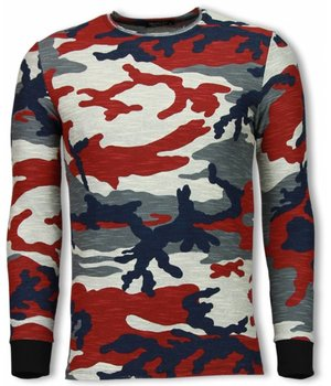 Uniplay Army Sweatshirt Zipped Back - Long Fit Sweatshirt  - Camo