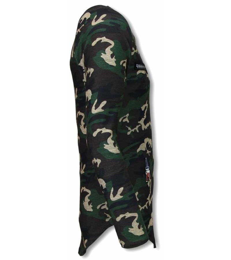 Berry Denim King of Army - Long Fit Sweateshirt - Camouflage