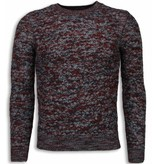 Enos Casual Pullover - Color Wollen Long Sleeve Herren - Rot