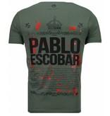 Local Fanatic Pablo Escobar Boss - Rhinestone T-shirt - Grün
