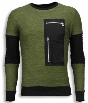 John H Rippe Arm mit Kevlar Pocket - Sweateshirt - Grün