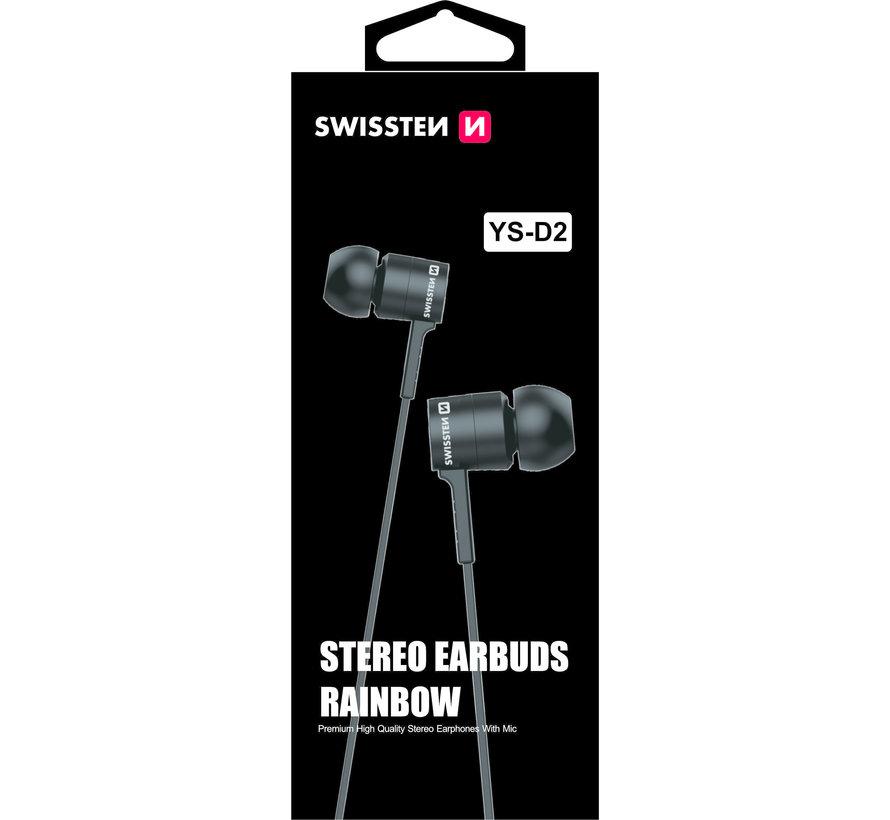 Swissten Headset Rainbow YS-D2 Zwart