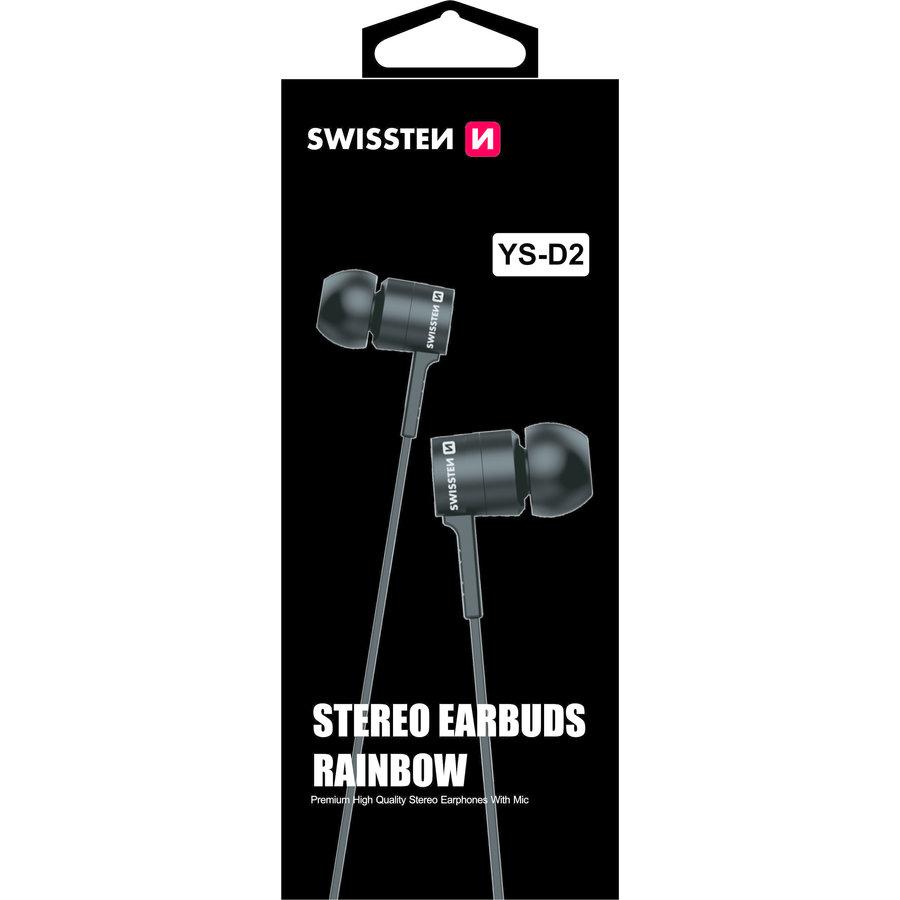 Swissten Headset Rainbow YS-D2 Zwart-2