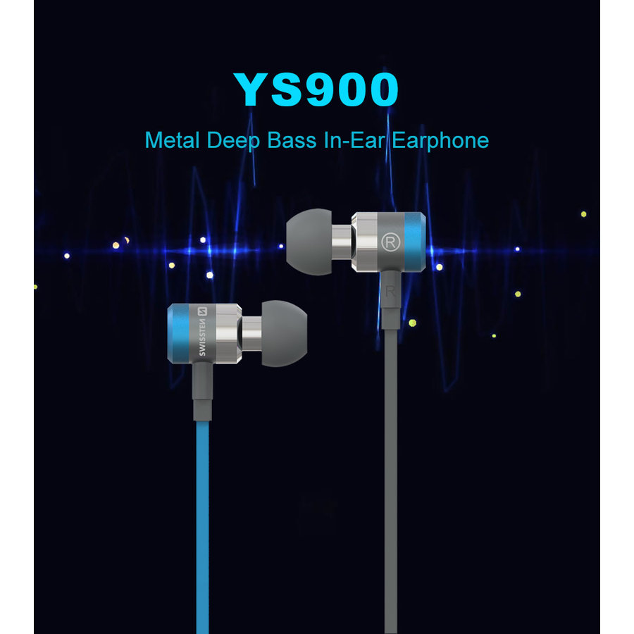 Swissten Headset  Superbass YS900 Blauw-8