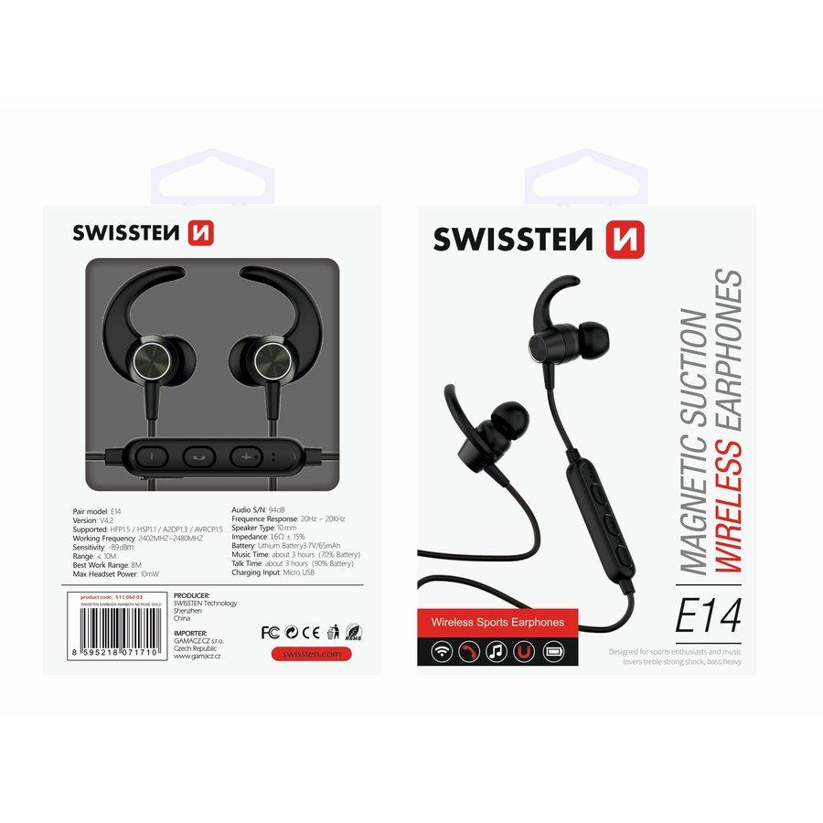 Swissten Bluetooth Oordopjes Active Zwart-2