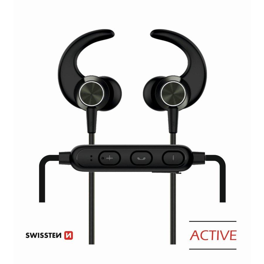 Swissten Bluetooth Oordopjes Active Zwart-1